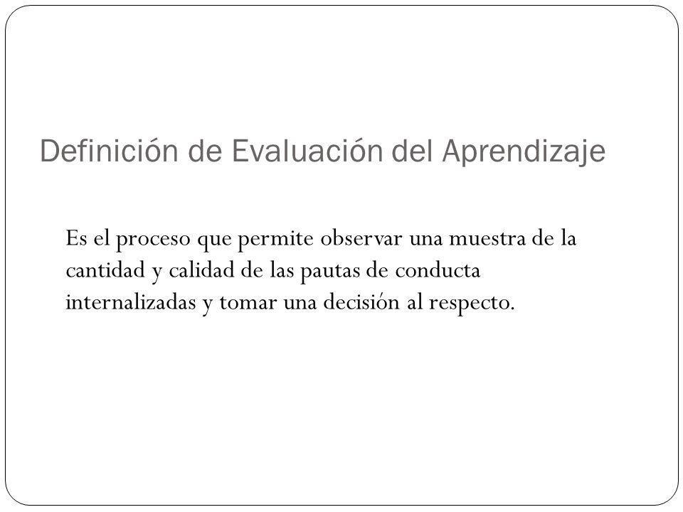 Definición de Evaluación del Aprendizaje