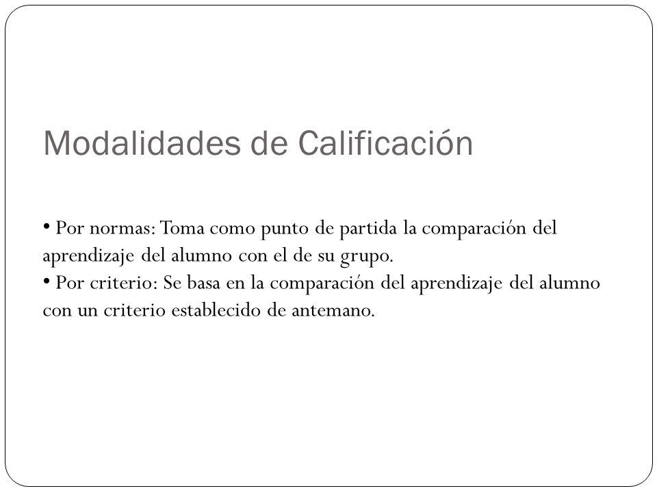Modalidades de Calificación