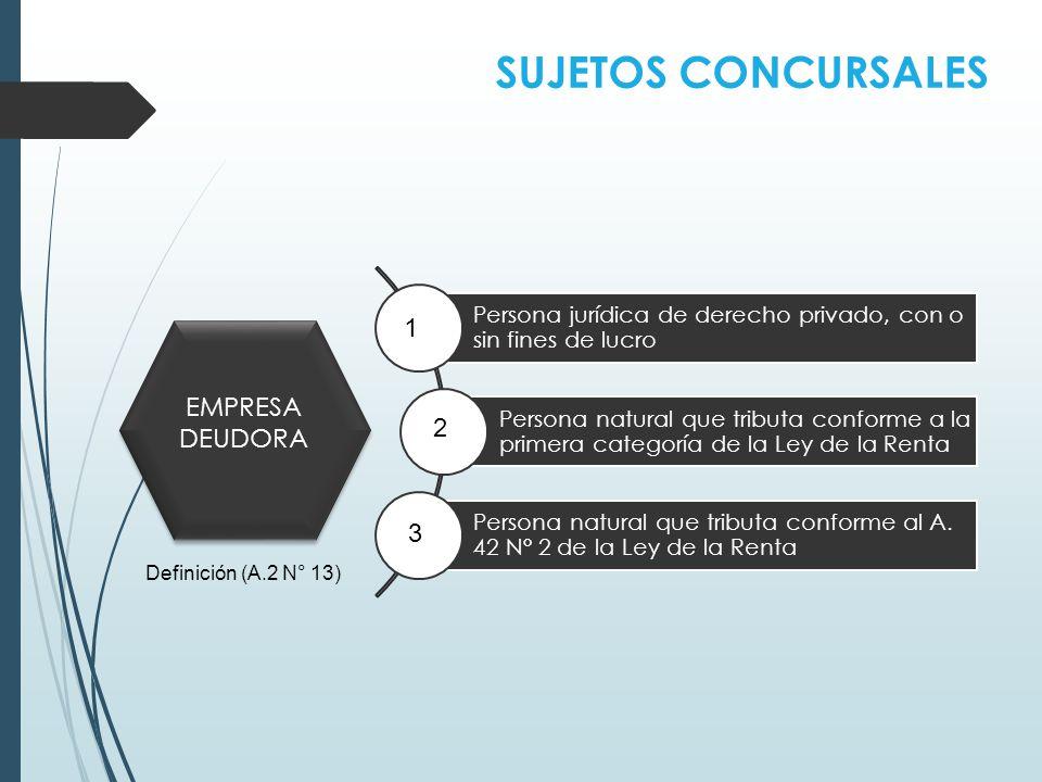 SUJETOS CONCURSALES 1 EMPRESA DEUDORA 2 3