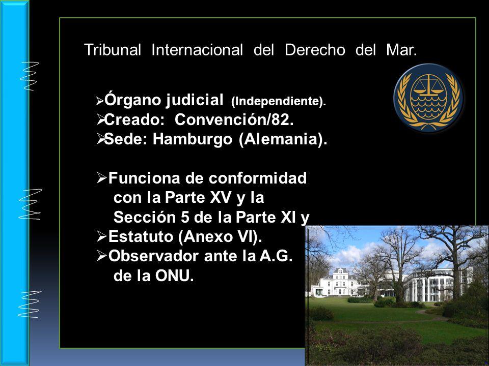 Tribunal Internacional del Derecho del Mar.