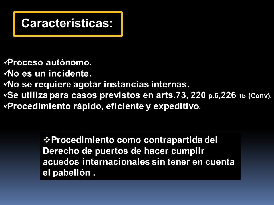 Características: Proceso autónomo. No es un incidente.
