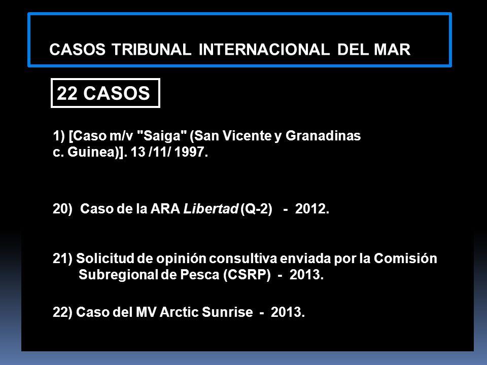 22 CASOS CASOS TRIBUNAL INTERNACIONAL DEL MAR