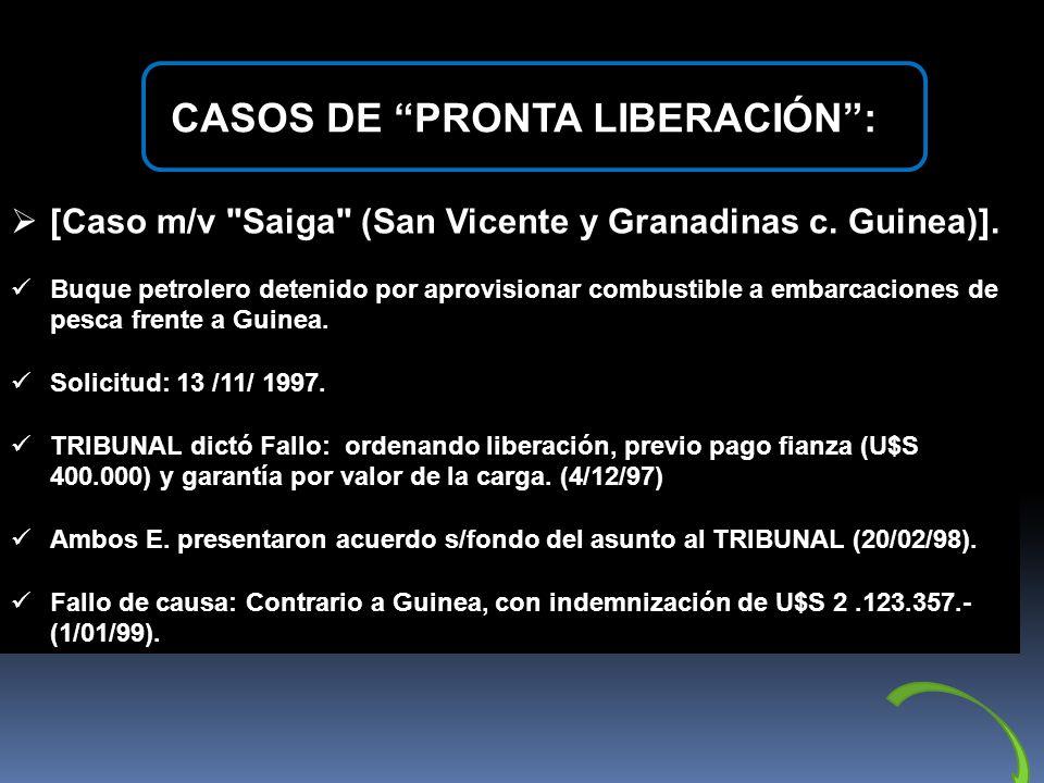 CASOS DE PRONTA LIBERACIÓN :