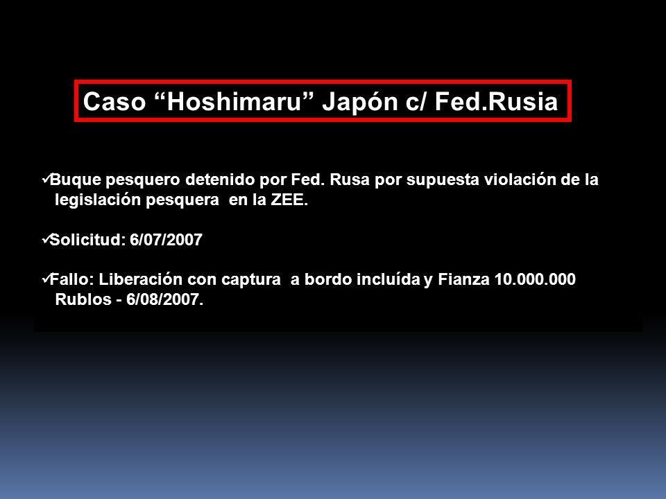Caso Hoshimaru Japón c/ Fed.Rusia