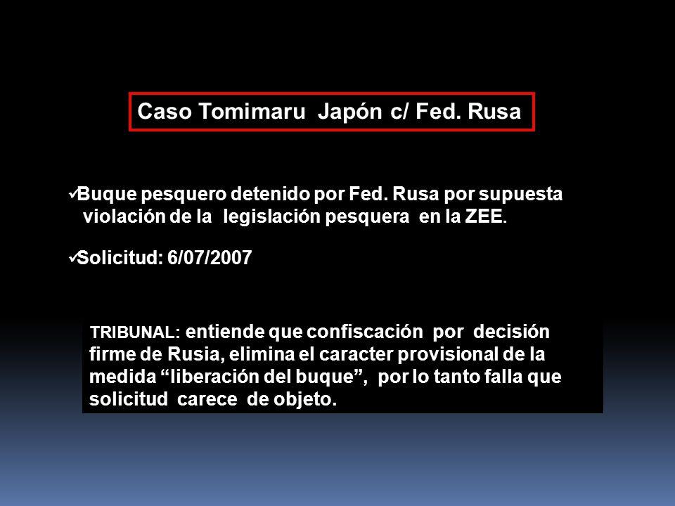 Caso Tomimaru Japón c/ Fed. Rusa