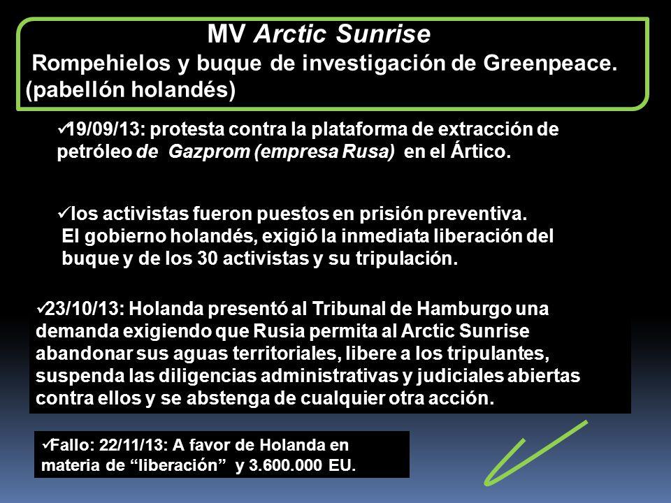 Rompehielos y buque de investigación de Greenpeace.