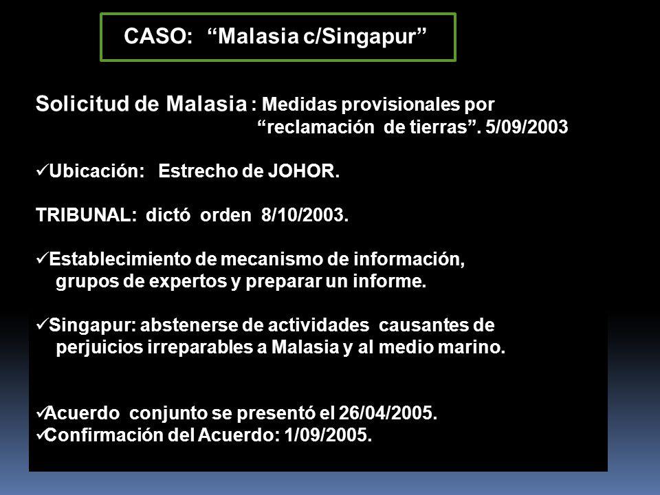 CASO: Malasia c/Singapur