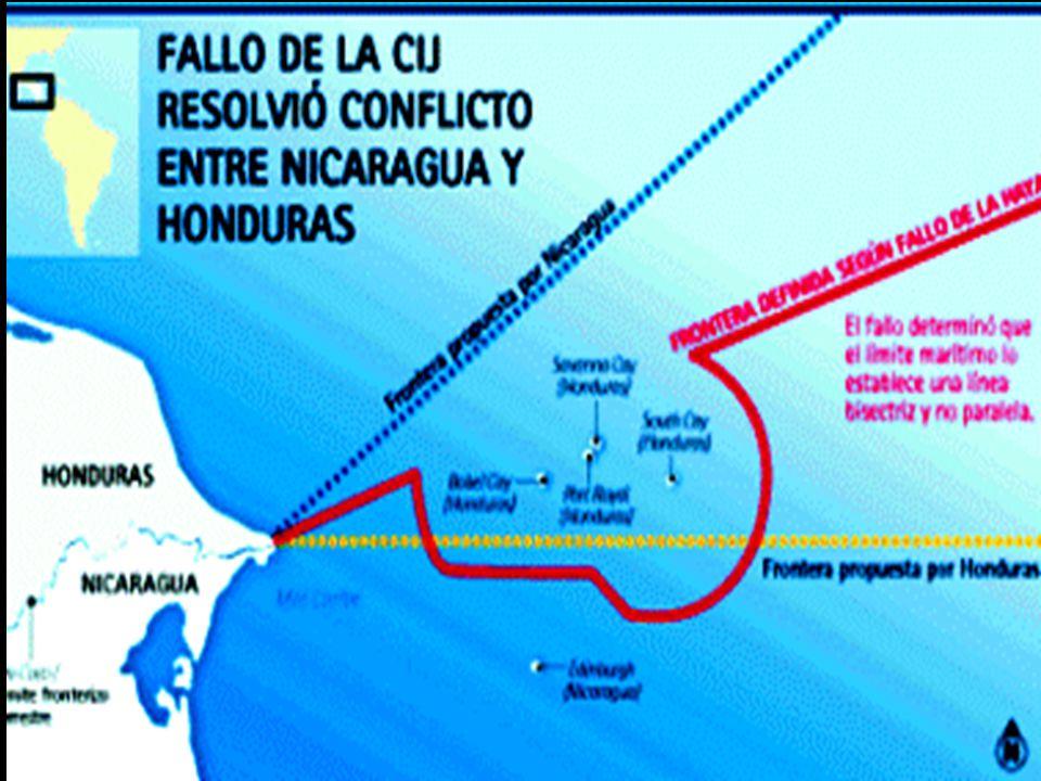 2) Corte determinó que Honduras tiene soberanía sobre las