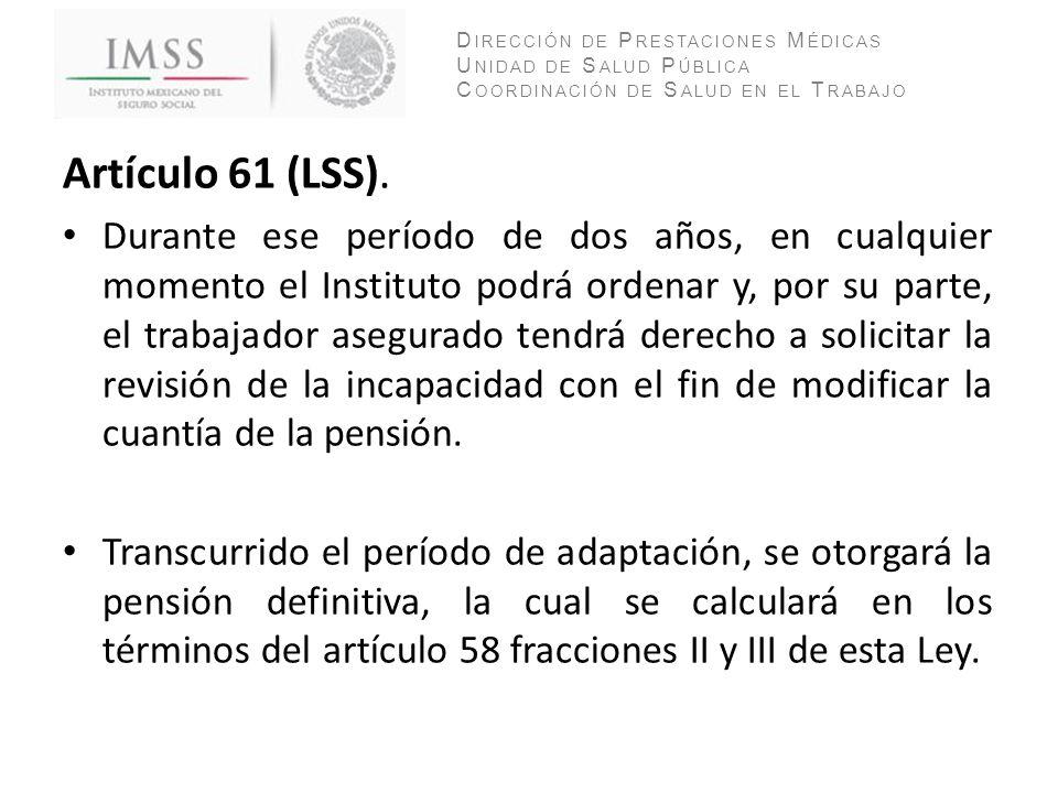 Artículo 61 (LSS).