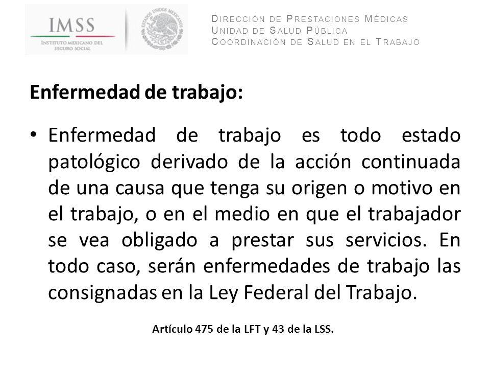 Artículo 475 de la LFT y 43 de la LSS.