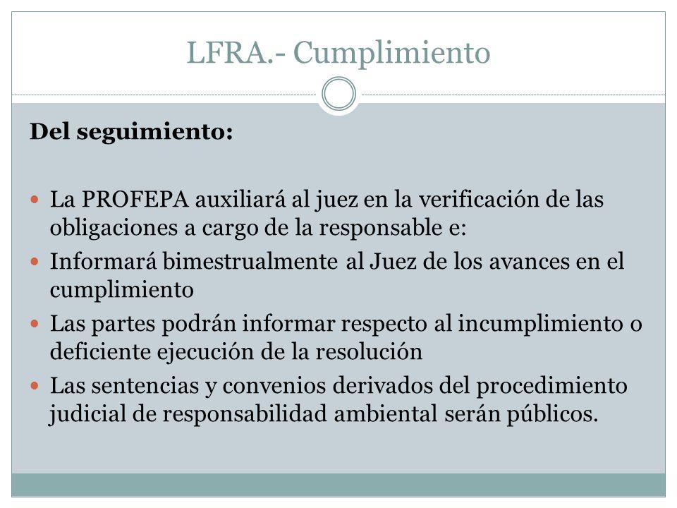 LFRA.- Cumplimiento Del seguimiento: