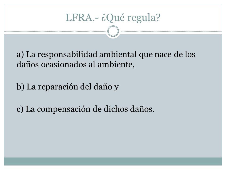 LFRA.- ¿Qué regula