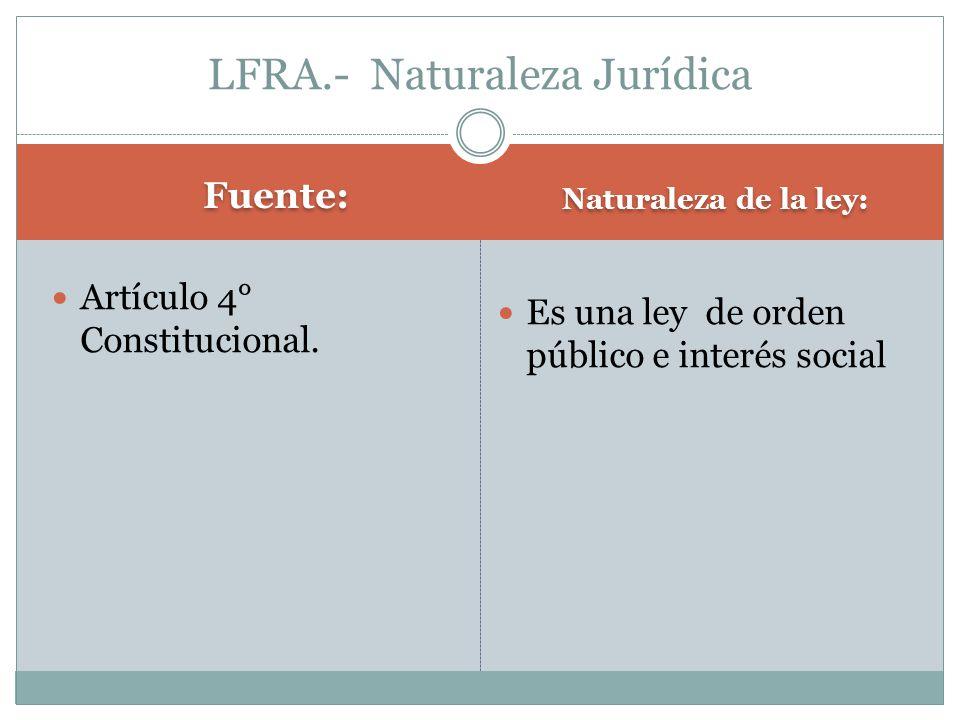 LFRA.- Naturaleza Jurídica