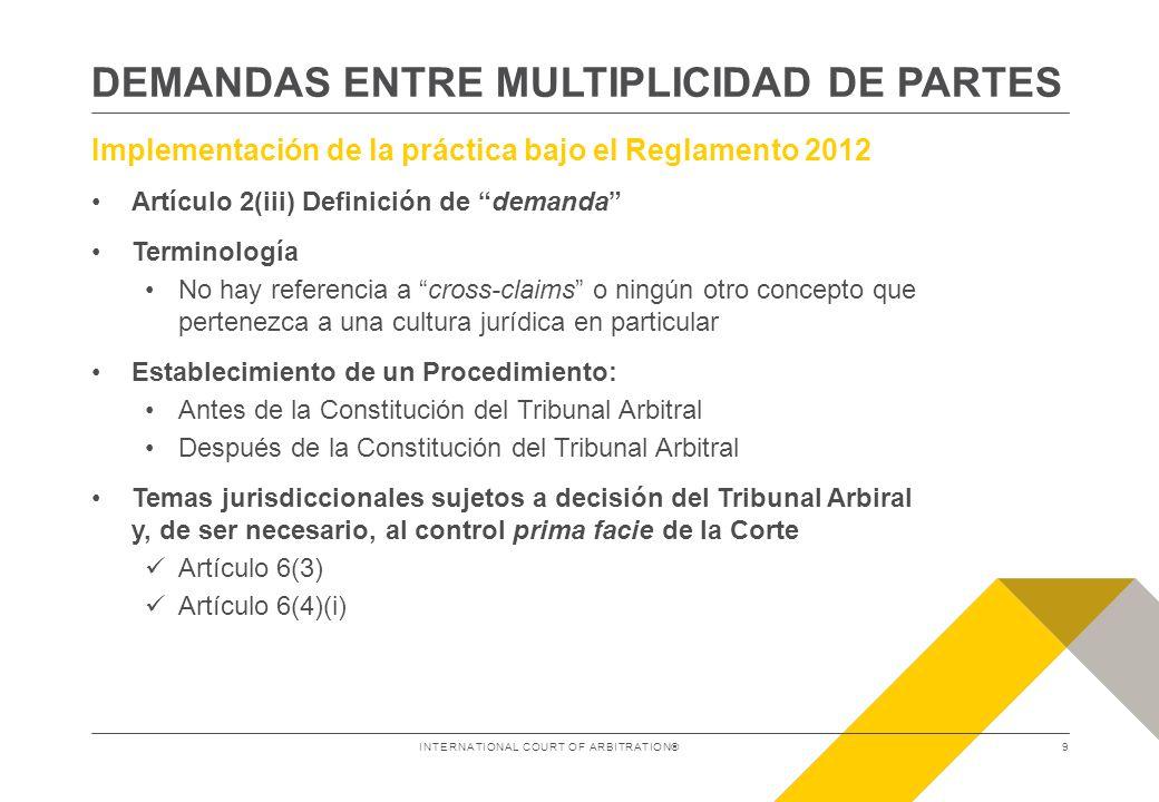 DEMANDAS ENTRE MULTIPLICIDAD DE PARTES