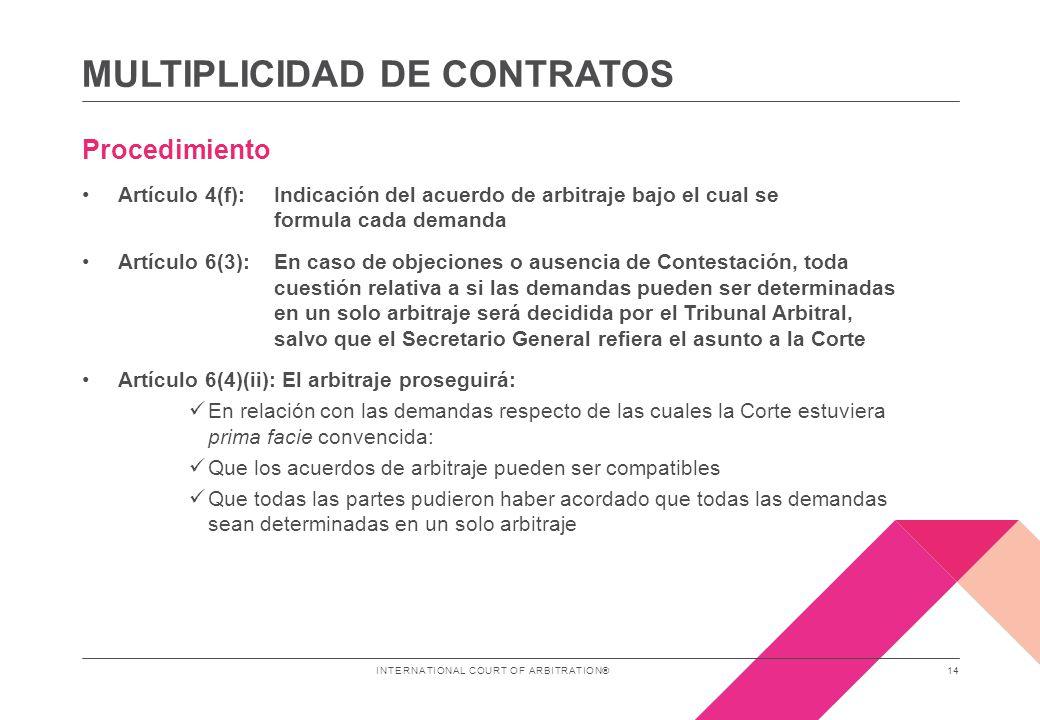 CONSOLIDACIÓN DE ARBITRAJES