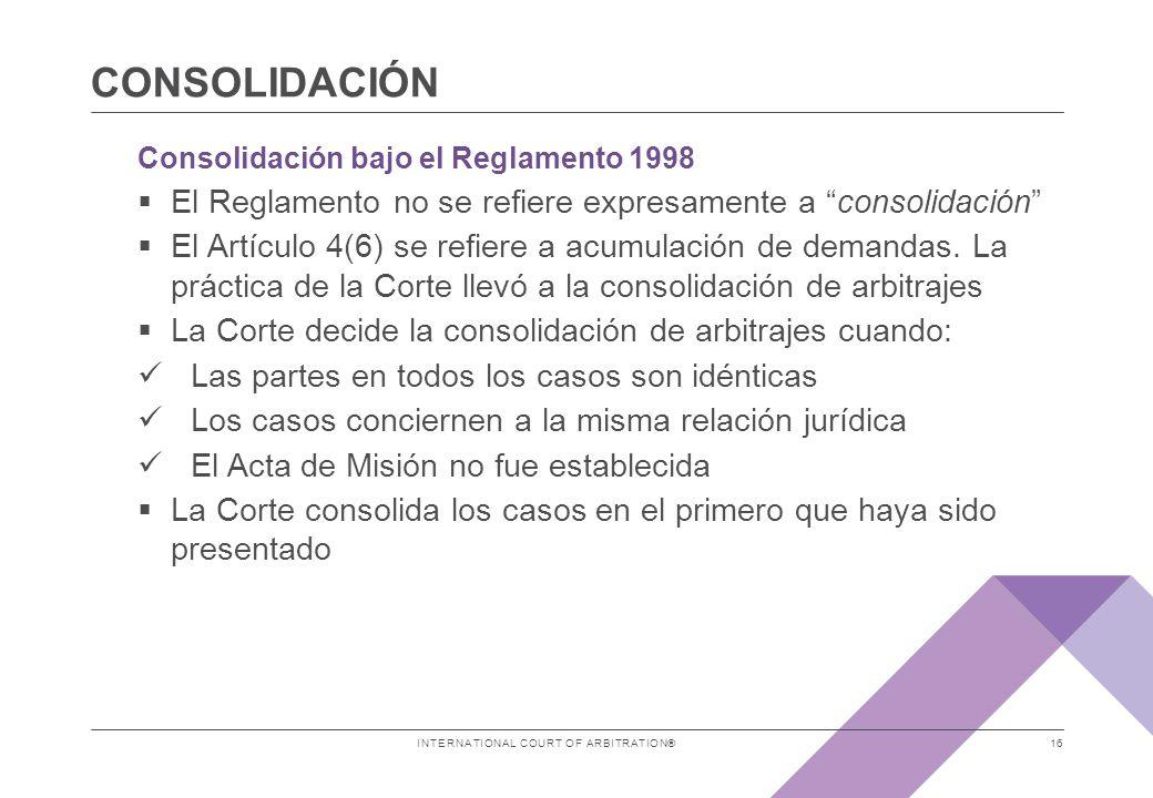 consolidaCIÓN Consolidación bajo el Reglamento 2012 Terminología
