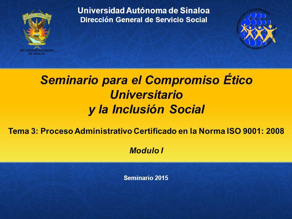 Seminario para el Compromiso Ético Universitario y la Inclusión Social