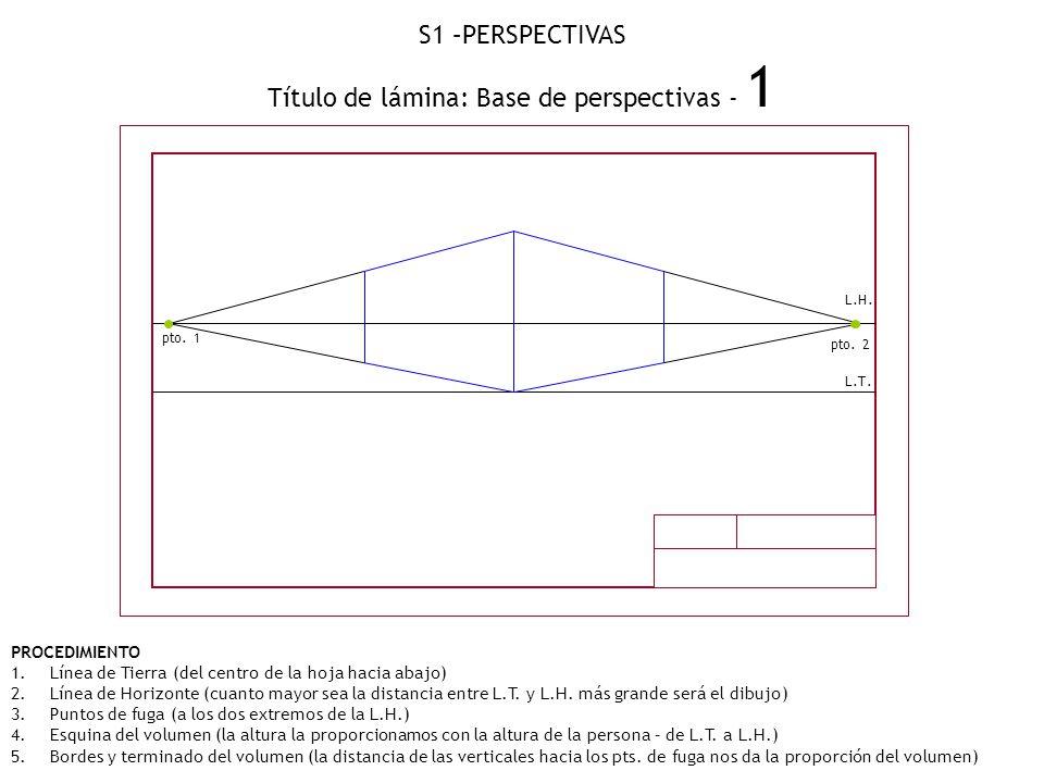 Título de lámina: Base de perspectivas - 1