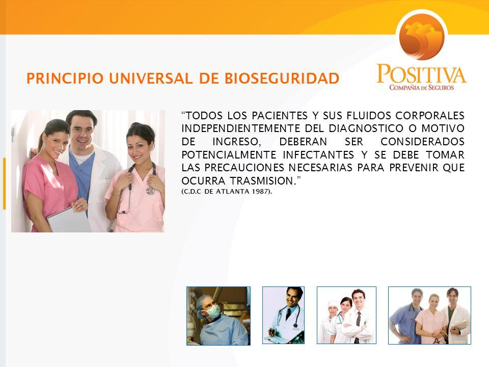 PRINCIPIO UNIVERSAL DE BIOSEGURIDAD