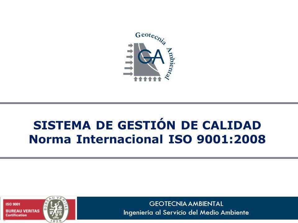 SISTEMA DE GESTIÓN DE CALIDAD Norma Internacional ISO 9001:2008