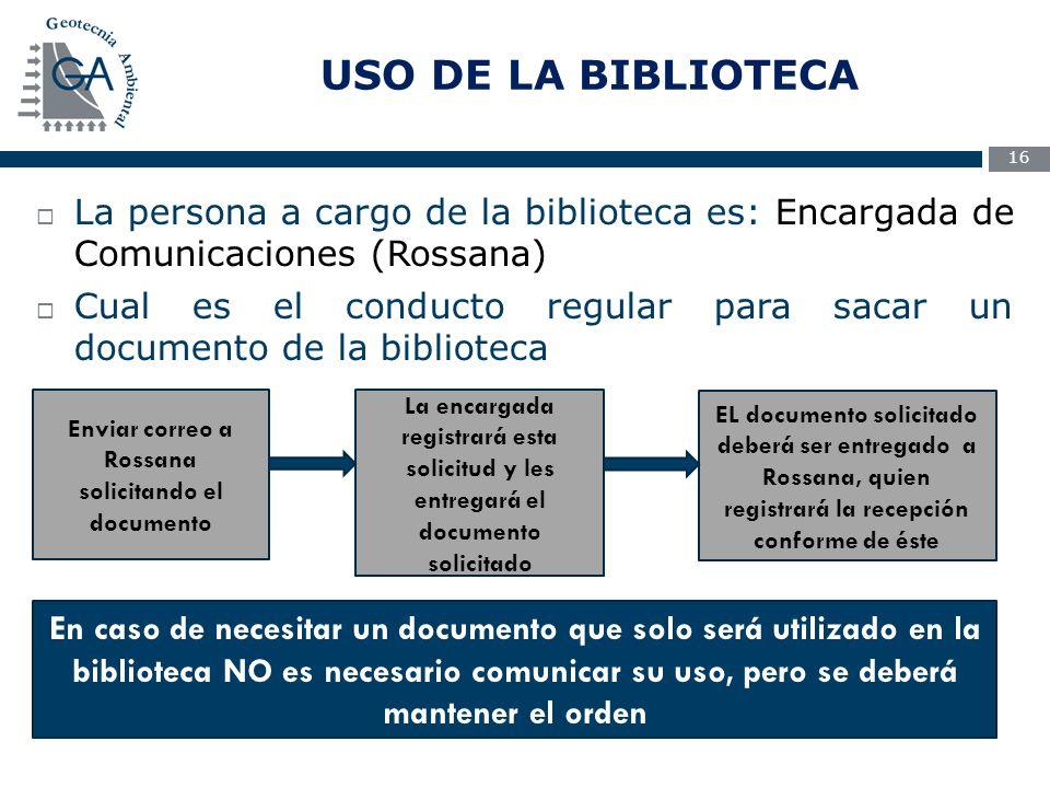 Enviar correo a Rossana solicitando el documento