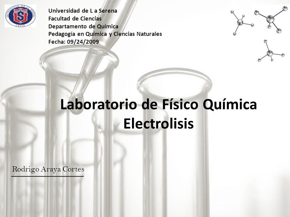 Laboratorio de Físico Química