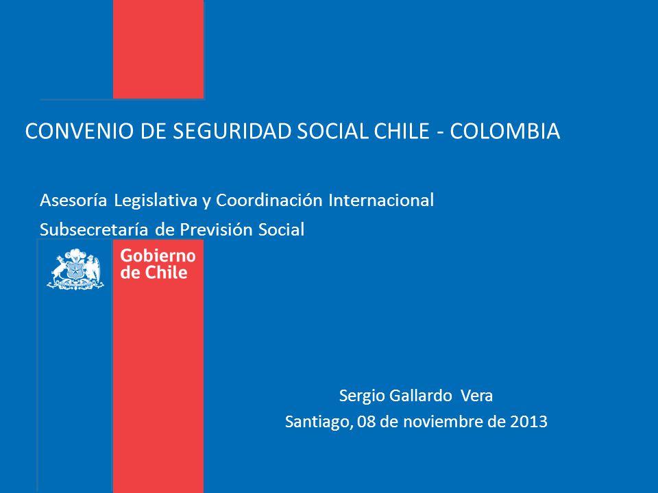 CONVENIO DE SEGURIDAD SOCIAL CHILE - COLOMBIA