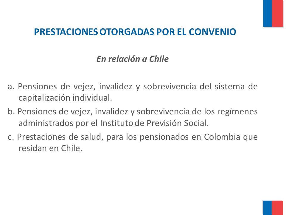 PRESTACIONES OTORGADAS POR EL CONVENIO