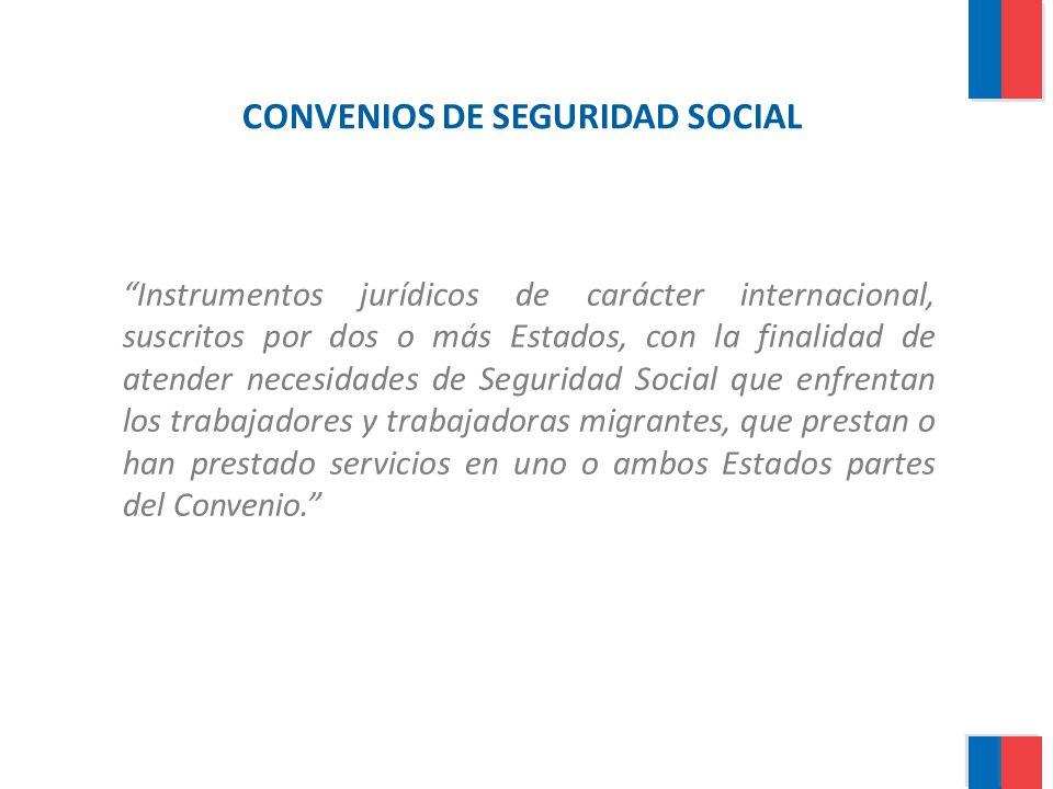 CONVENIOS DE SEGURIDAD SOCIAL