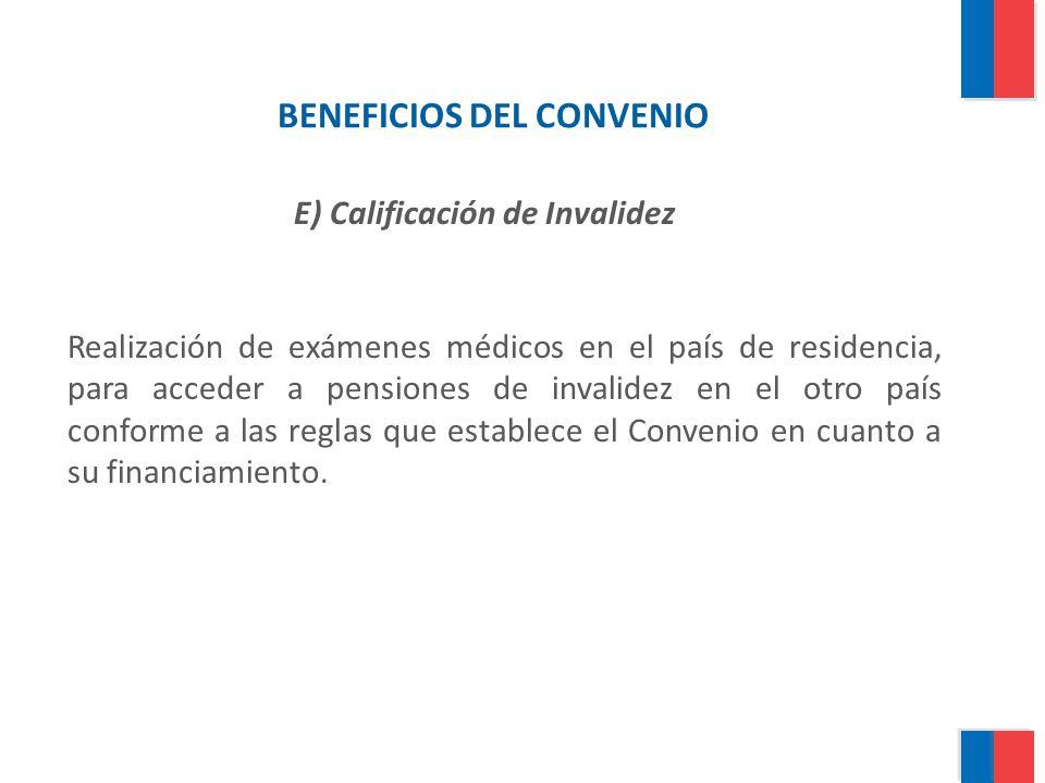 BENEFICIOS DEL CONVENIO