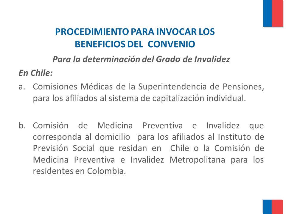 PROCEDIMIENTO PARA INVOCAR LOS BENEFICIOS DEL CONVENIO
