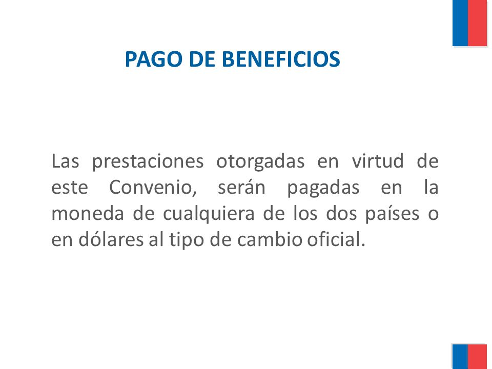 PAGO DE BENEFICIOS