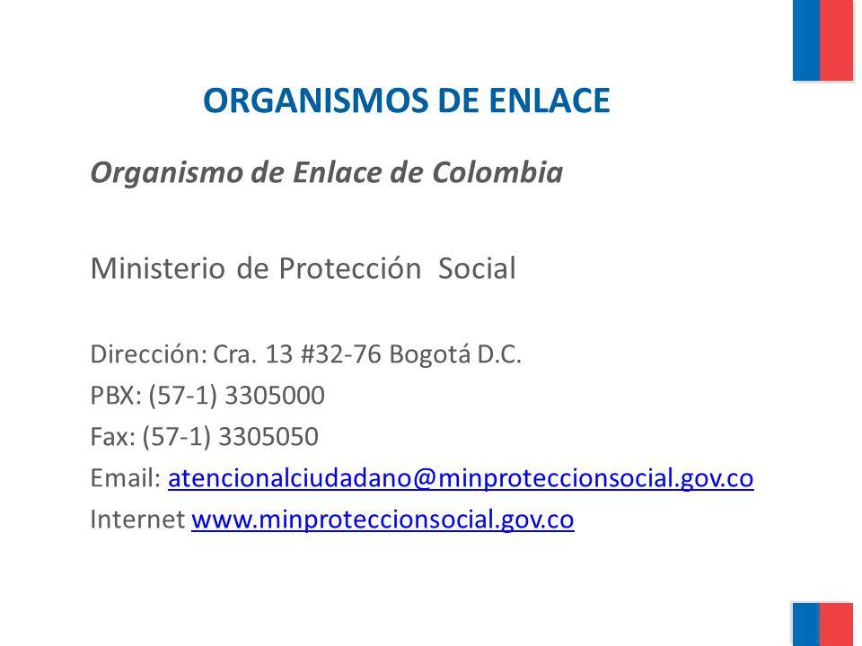 ORGANISMOS DE ENLACE Organismo de Enlace de Colombia