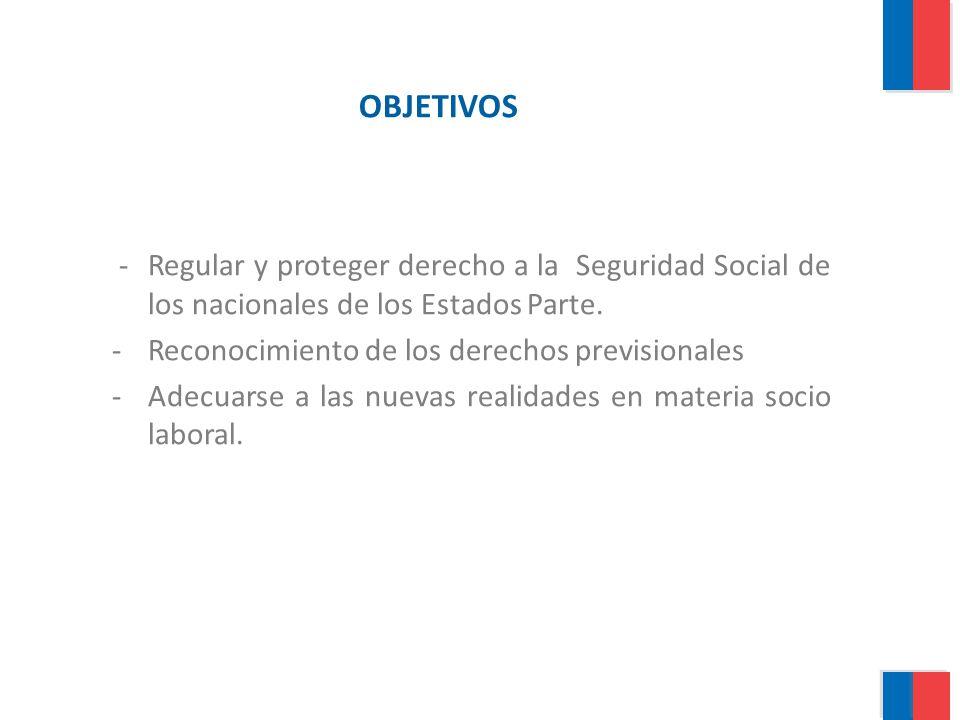 OBJETIVOS - Regular y proteger derecho a la Seguridad Social de los nacionales de los Estados Parte.