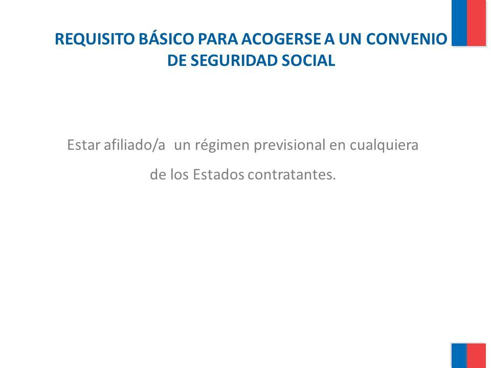 REQUISITO BÁSICO PARA ACOGERSE A UN CONVENIO DE SEGURIDAD SOCIAL