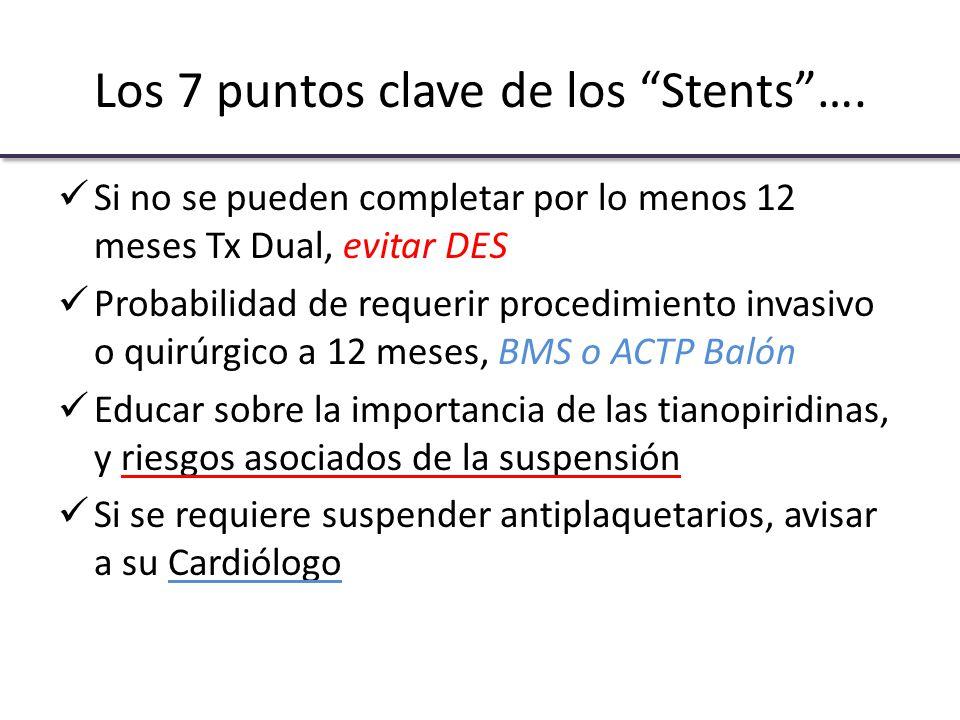 Los 7 puntos clave de los Stents ….
