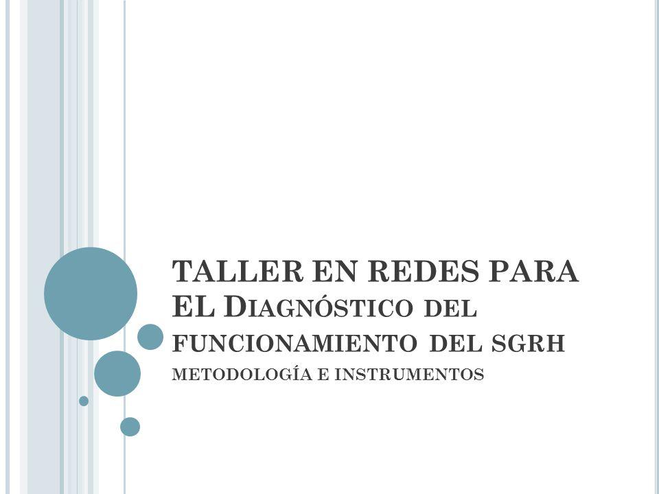 TALLER EN REDES PARA EL Diagnóstico del funcionamiento del sgrh