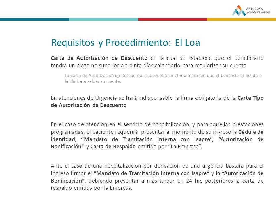 Requisitos y Procedimiento: El Loa