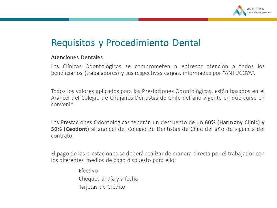 Requisitos y Procedimiento Dental
