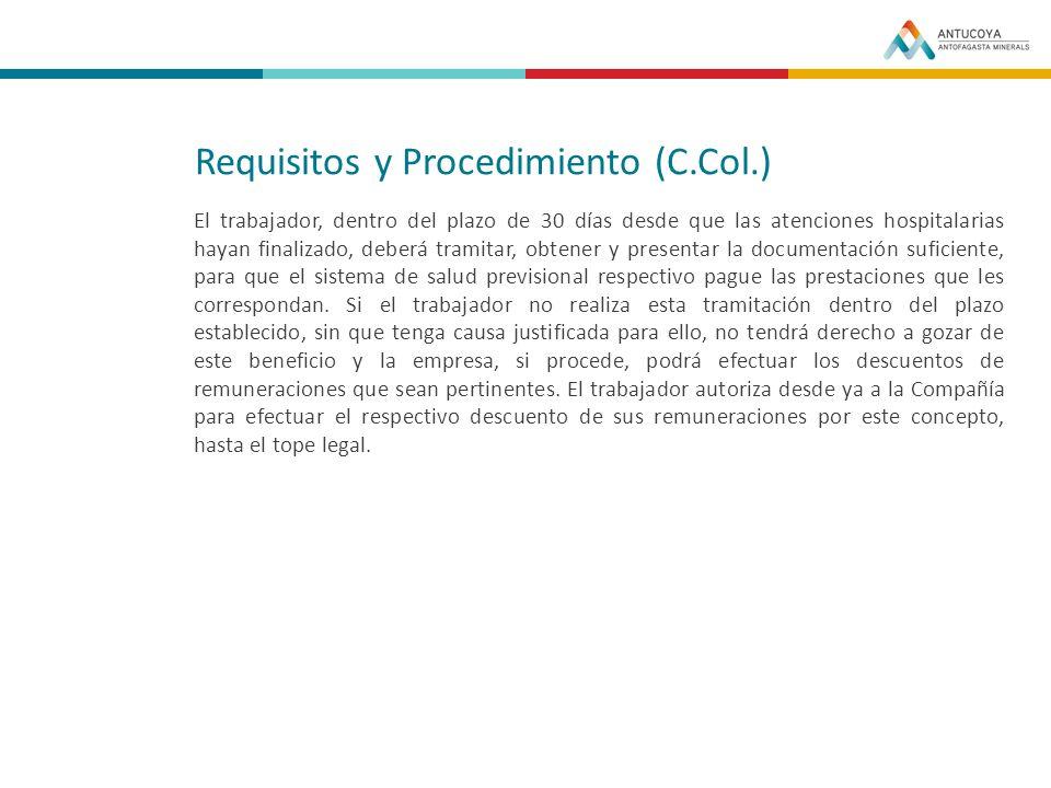 Requisitos y Procedimiento (C.Col.)