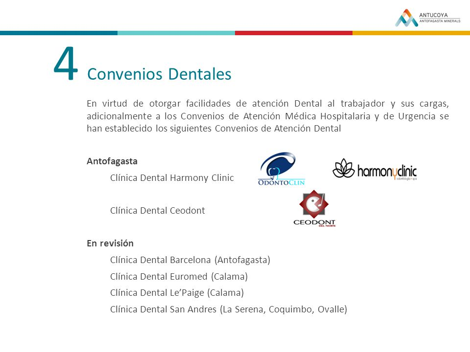 4 Convenios Dentales.