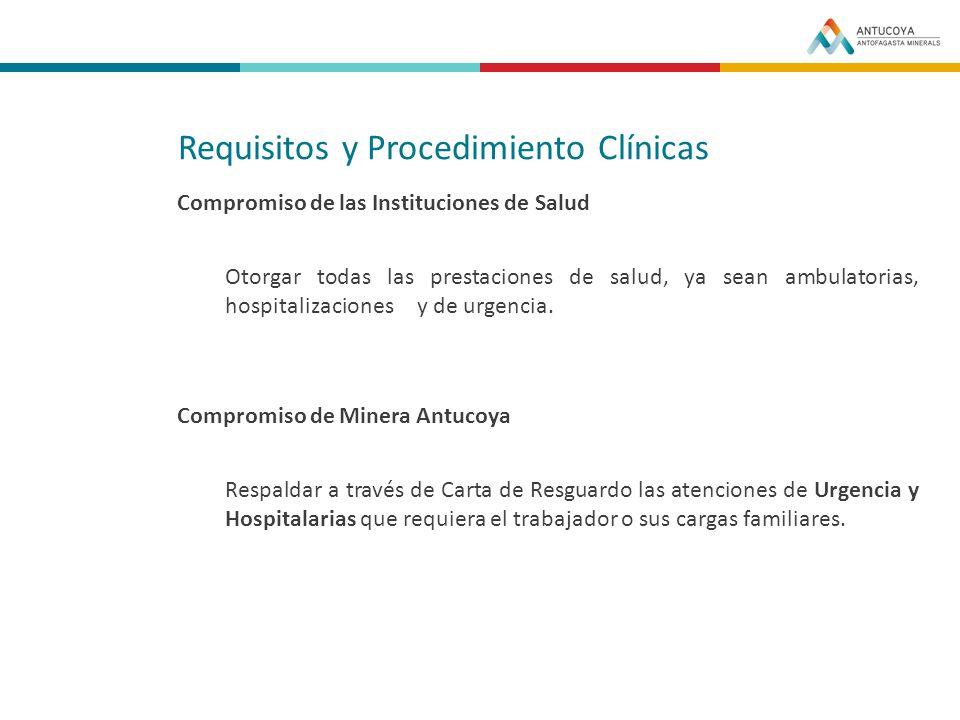 Requisitos y Procedimiento Clínicas