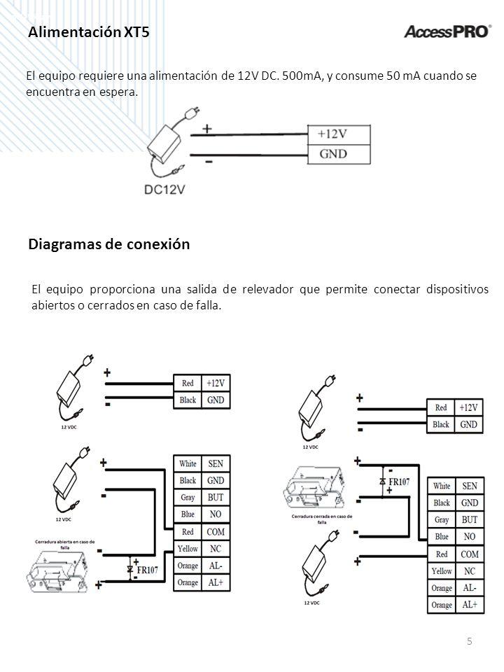 Alimentación XT5 Diagramas de conexión