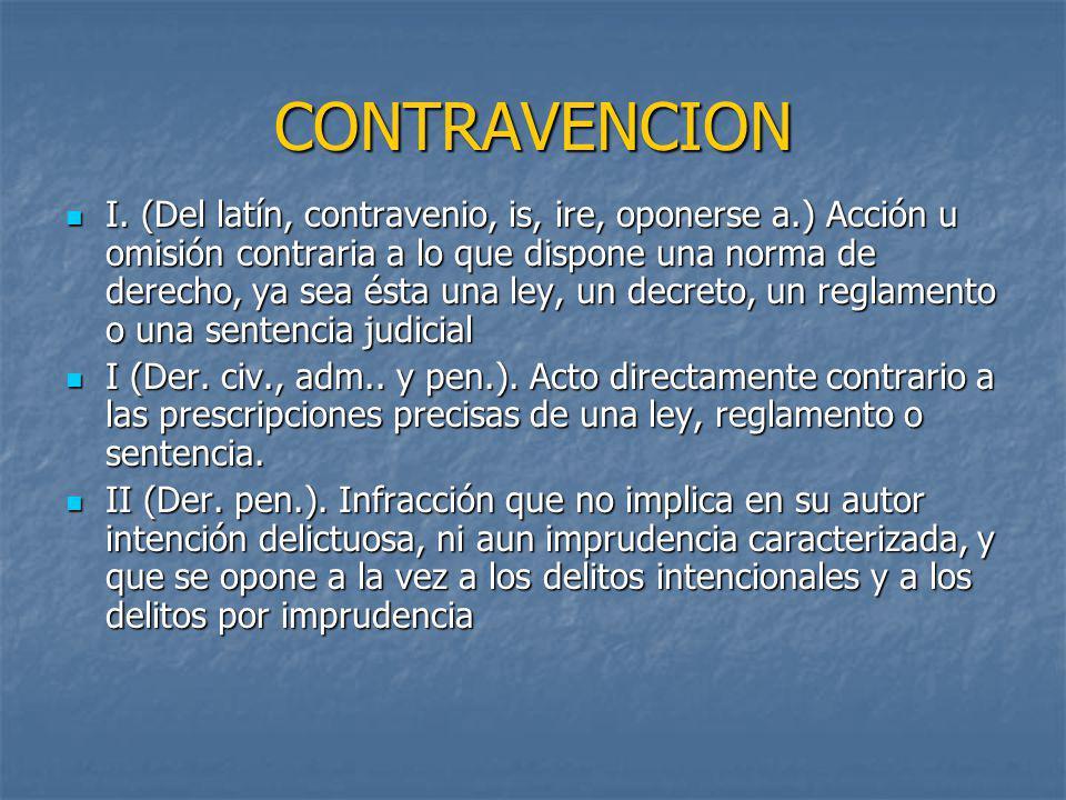 CONTRAVENCION