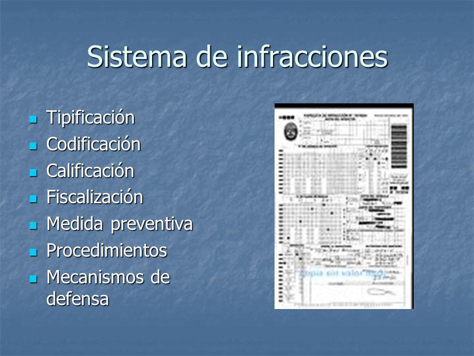 Sistema de infracciones