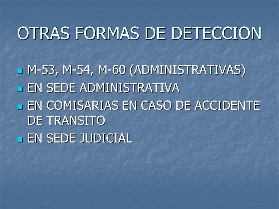 OTRAS FORMAS DE DETECCION