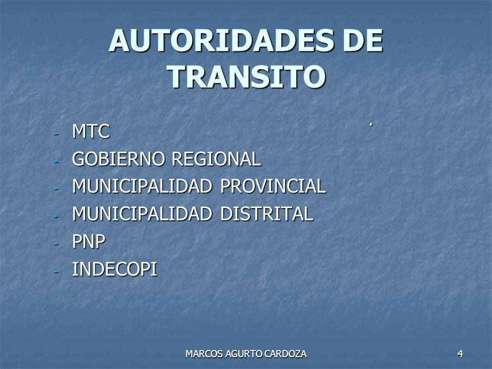 AUTORIDADES DE TRANSITO