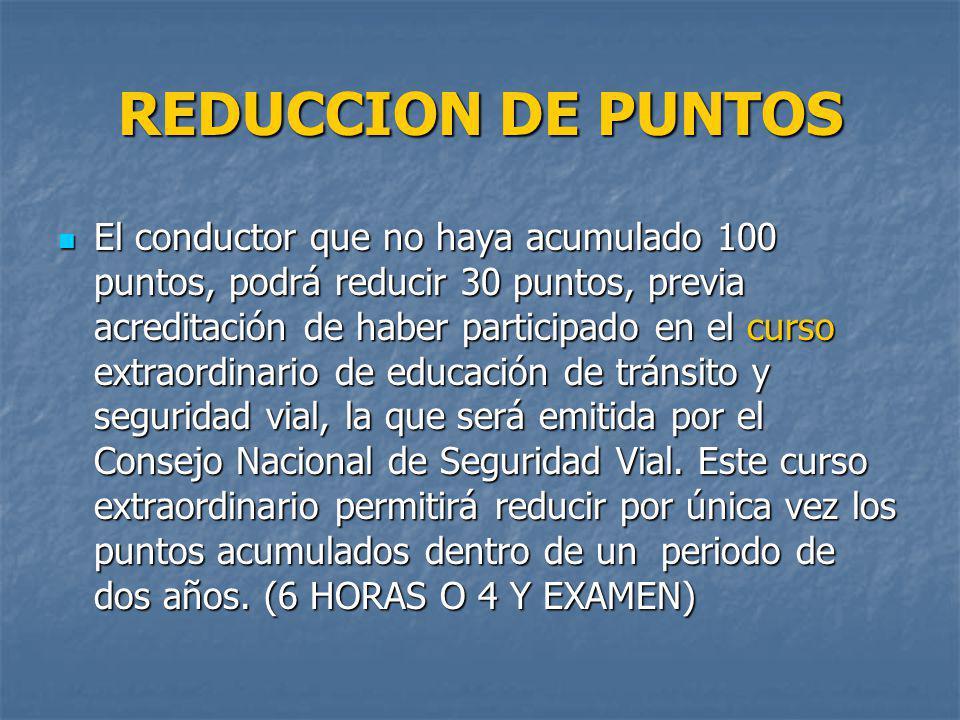 REDUCCION DE PUNTOS