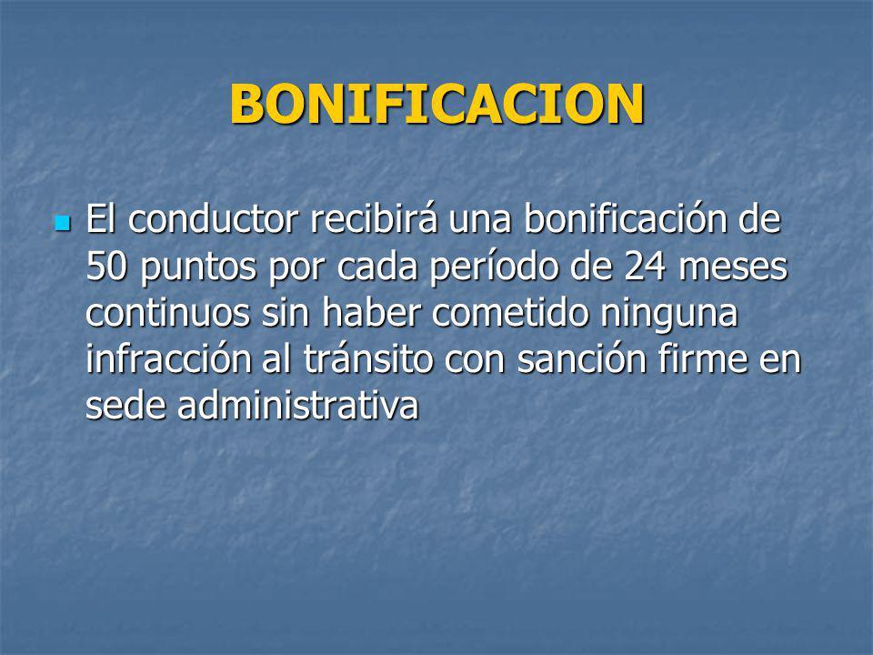 BONIFICACION