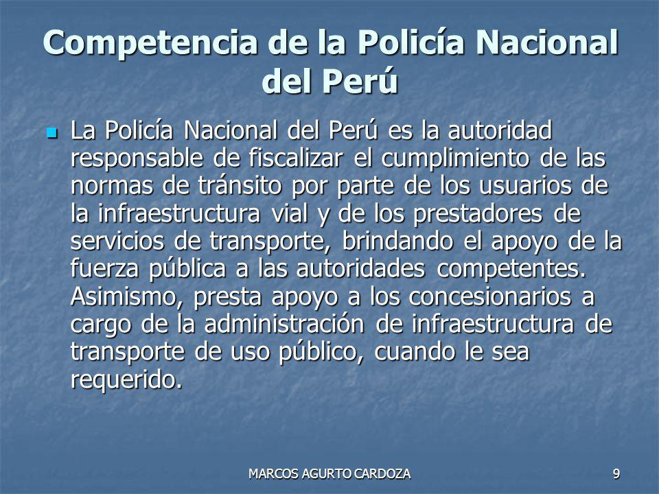 Competencia de la Policía Nacional del Perú
